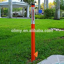 olimy glass reinforced plastic outdoor sign post high strength fiberglass driveway marker frp marker post