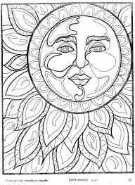 Hippie Coloring Pages The Sun Coloringstar