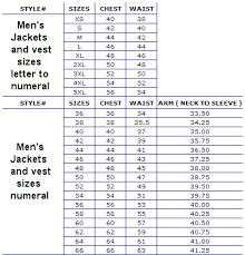 46 Regular Size Chart Updated My Leather Jacket Sizes Chart Leather Supreme