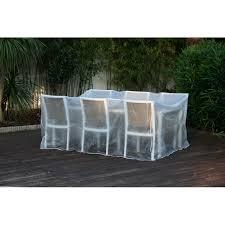 Housse de protection / Bache pour salon ou table de jardin transparente