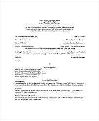Agenda For Staff Meeting Barca Fontanacountryinn Com