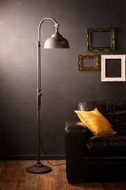 Retro Industrial Floor Lamp Vintage Style Iron Black Metal Tall