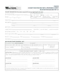 Application Templates For Word Inspiration Student Enrollment Form Template New Free Application Templates