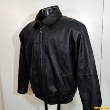details about protocol usa soft leather jacket coat mens size m black zippered insulated