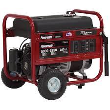 powermate 5 000 watt gasoline powered manual start portable 5 000 watt gasoline powered manual start portable generator subaru engine