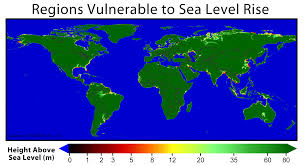sea level rise map  my blog