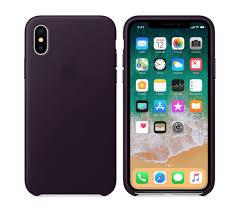 apple iphone x leather case dark aubergine