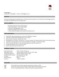 Linux Fresher Resume Extraordinary Linux Fresher Resume Format