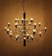 Early Arteluce 209730 Gino Sarfatti Design Lampe Chandelier