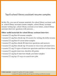 9 Library Assistant Cover Letter Wsl Loyd