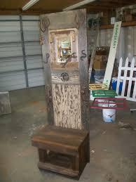 Old Door Coat Rack And Bench Delectable Hatcoat Rack With Bench Back Is Old Door Bench Is Fence Coat Rack