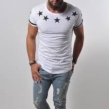 T-Shirt NY New York City USA Stars Street Fashion White Top Longshirt Tee  876 | Camisetas masculinas, Camisetas, Roupas