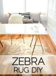 faux zebra rug animal skin rugs uk