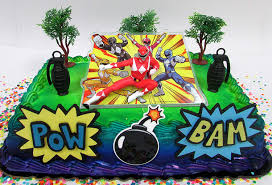 Amazoncom Power Rangers Birthday Cake Topper Set Featuring Figure