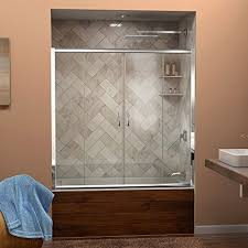 visions framed sliding tub door