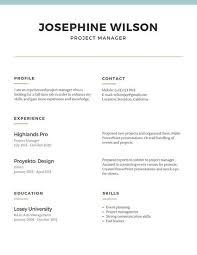 Very Simple Resume Simple Resume Chartreusemodern Com