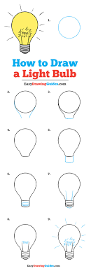 How To Draw A Light Bulb Really Easy Drawing Tutorial