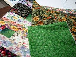 Side borders, binding, quilting…… | Exuberant Color & I searched through my green stash to find a binding for this quilt. I  needed more than 1/2 yard so that eliminated a lot of fabric. Adamdwight.com