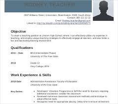 Curriculum Vitae Sample Format Curriculum Vitae Template