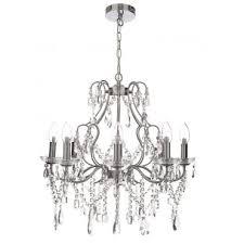 annalee large luxury cinderella 8 light bathroom chandelier polished chrome
