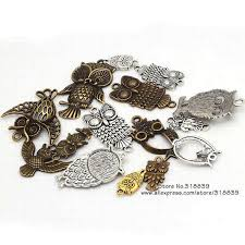 whole antique metal zinc alloy mixed owl charms diy animals owl pendant charms jewelry making 8418 pendants necklaces gold pendant necklaces from yxba