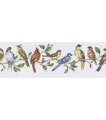 Bird Perch Wallpaper Border, Multicolor ...