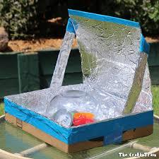 Solar Oven Temperature Chart Diy Solar Oven From A Repurposed Cardboard Box The Craft Train