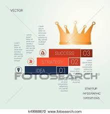 Startup Timeline Template Vector Template Startup Success For Three Positions Clipart