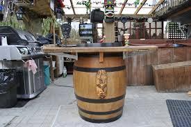 wine barrel bar plans finished sink wine barrel bar plans
