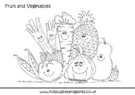 Small Picture Fruit and Vegetable Colouring Sheets Kids Puzzles and Games