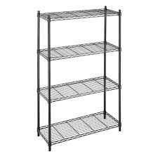 black storage shelves. Brilliant Storage Whitmor Deluxe Rack Collection 36 In X 54 Supreme 4Tier Wire In Black Storage Shelves X