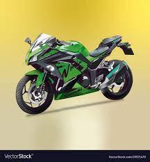 bike kawasaki ninja 300 royalty free