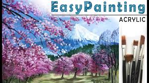 bloom treeount landscape how to paint acrylic tutorial for beginners