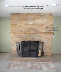 fireplace lighting. fireplace accent lighting
