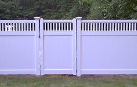 vinyl fencing. Vinyl Fence With Gate Fencing