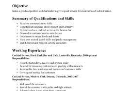 Cocktail Waitress Resume Informatica Expert Sample Resume
