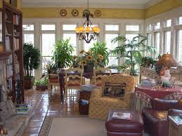 furniture for sunroom. Beautiful Potted Green Plants And Traditional Furniture Pieces In French Style Sunroom For