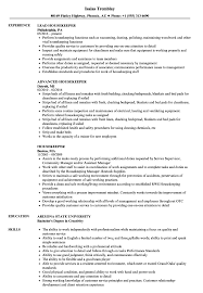 Housekeeping Resume Samples Objective Examples Hirnsturm Hospital