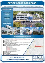 office space for lease flyer serious professional real estate flyer design for sina companies