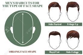 男の楕円形の顔の形のためのヘアスタイル図