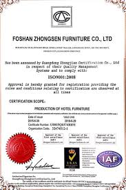 our factories onestop a renowned international hospitality furniture manufacturer our factory has earned various international certifications such as iso 9001 2008
