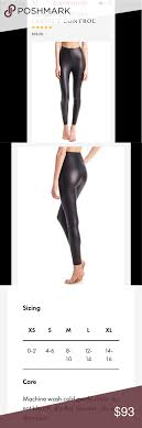Nwt Commando Pc Faux Leather Leggings In Black M Brand New