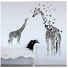 YUFENG Butterfly Giraffe Wallpaper Decor Decal For Nursery Room Wall Art  Childrenu0027s Sticker Art Anime My