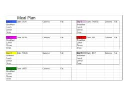 Diet Chart Template 40 Weekly Meal Planning Templates Template Lab