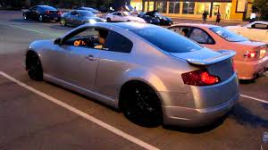 Twin Turbo G35 Coupe Revving and Acceleration - YouTube