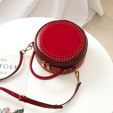 leather product while this round cross handbag has been made by hand but still there is no error scars or traces left behind by the person who