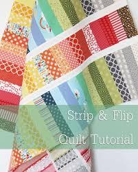 45 Beginner Quilt Patterns and Tutorials & Strip & Flip Quilt Tutorial Adamdwight.com