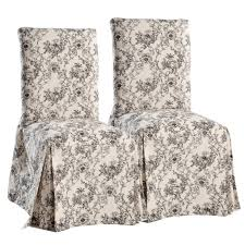 toile dining chair slipcovers set of