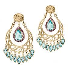 azza fahmy wonders of nature blue topaz chandelier earrings