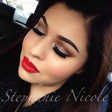 dark eye makeup and red lipstick 6258